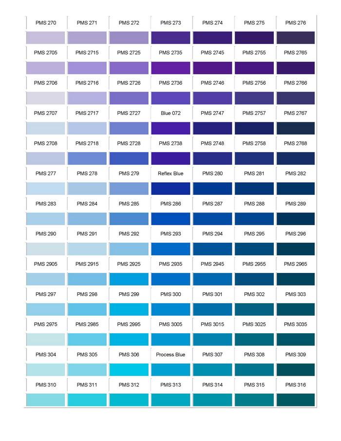 Pantone Colour Chart 04