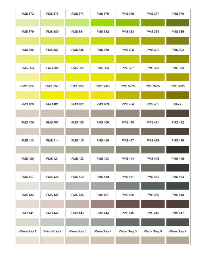 Pantone Colour Chart 06