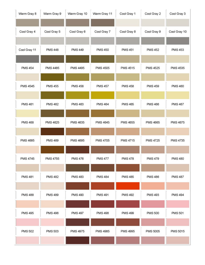 Pantone Colour Chart 07