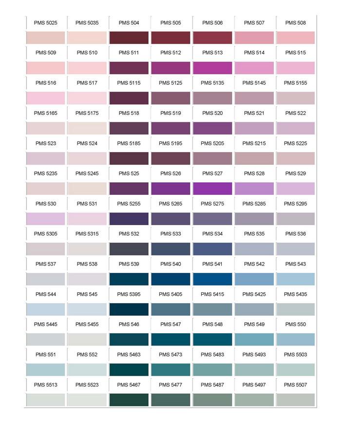 Pantone Colour Chart 08