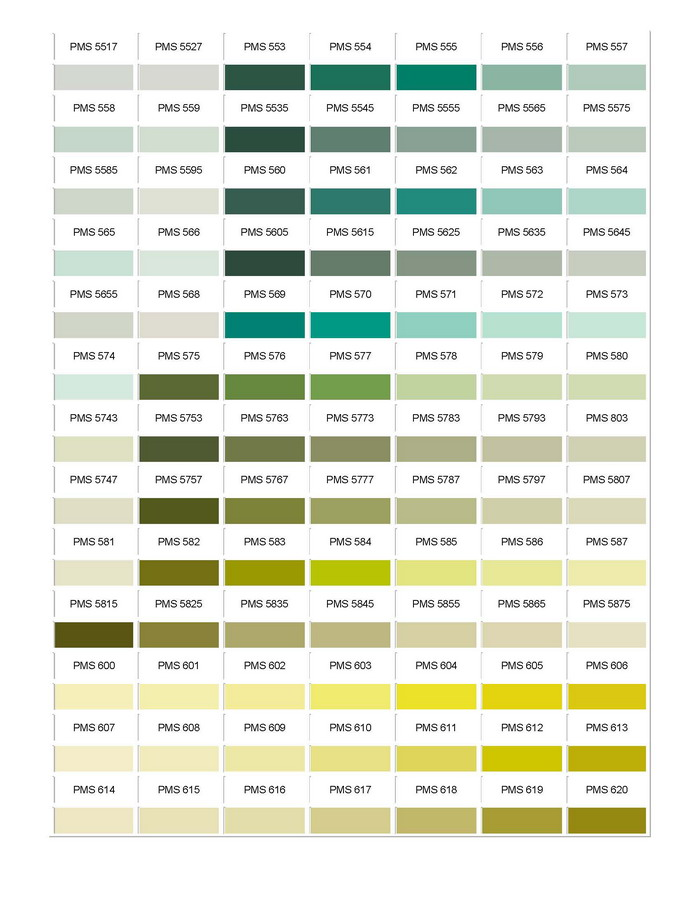 Pantone Colour Chart 09