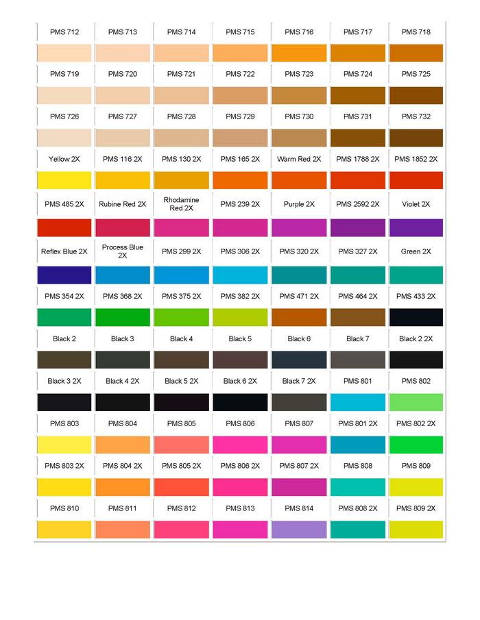 Pantone Colour Chart 11