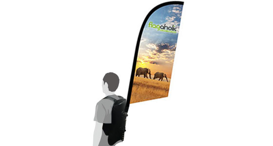 Backpack Feather Banner